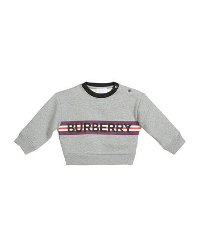 Boy's Marlon Logo Stripe Sweatshirt, Size 12M-2