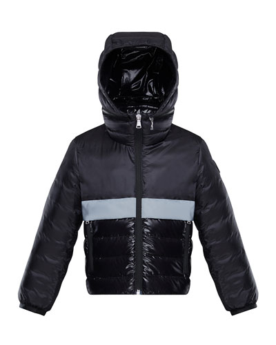 Boy's Verdun Reflective Tape Hooded Jacket, Size 8-14
