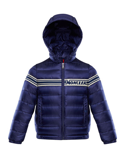 Boy's Renald Logo Tape Bomber Jacket, Size 4-6