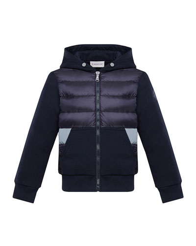 Boy's Puff Front Hooded Jacket, Size 8-14