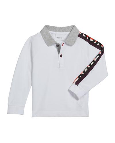 Boy's Duncan Polo Shirt w/ Logo Down Sleeve, Size 3-14