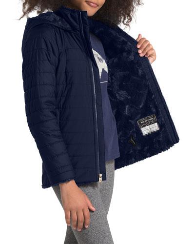 Kid Girl's Mossbud Swirl Parka Jacket, Size XXS-XL