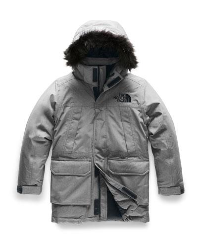 Boy's McMurdo Down Parka w/ Faux Fur Trim, Size XXS-XL