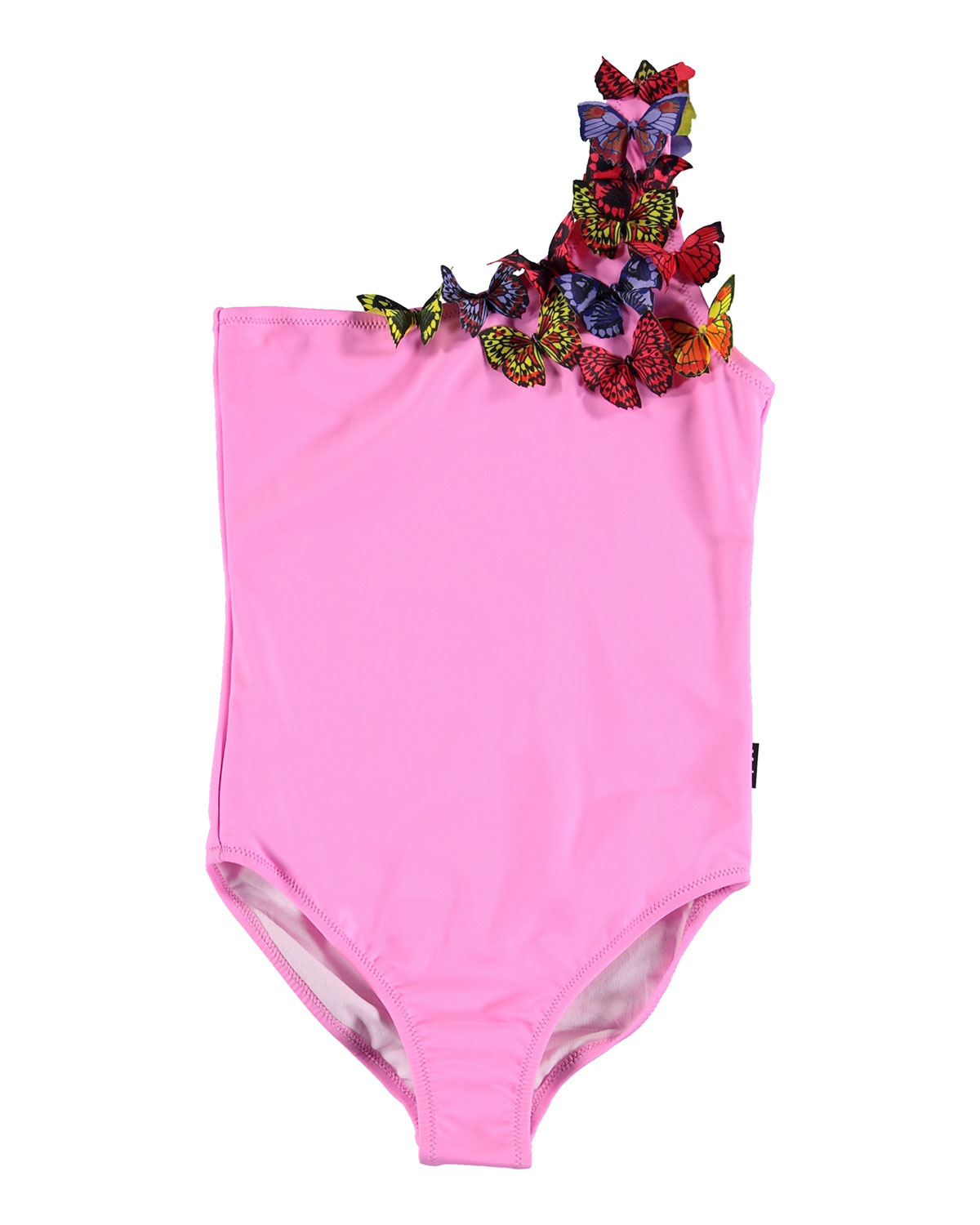 Molo GIRL'S NAI SOLID ONE-PIECE SWIMSUIT W/ 3D BUTTERFLIES