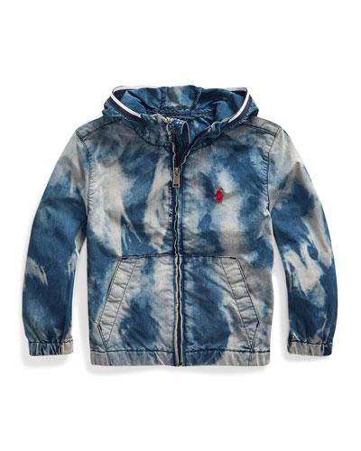 Boy's Denim Wind Breaker Jacket, Size 2-4