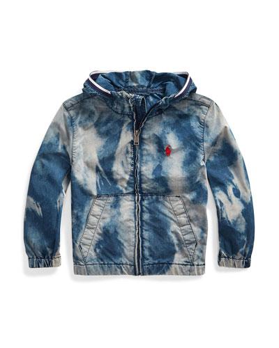 Boy's Denim Wind Breaker Jacket, Size 5-7