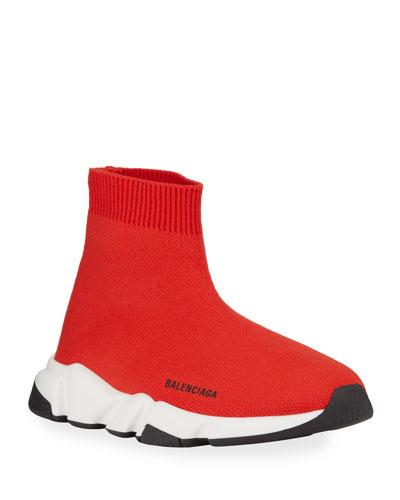 Speed Sock Sneakers, Toddler/Kids, Red/White