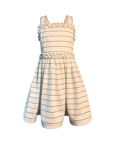 Girl's Wavy Striped Sun Dress, Size 2-6