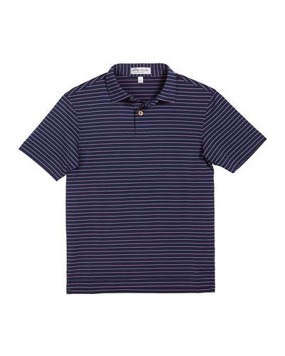 Boy's Crafty Stripe Polo Shirt, Size XXS-XL