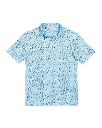 Boy's Ridley Sailboat-Print Stretch Jersey Polo Shirt, Size XXS-XL