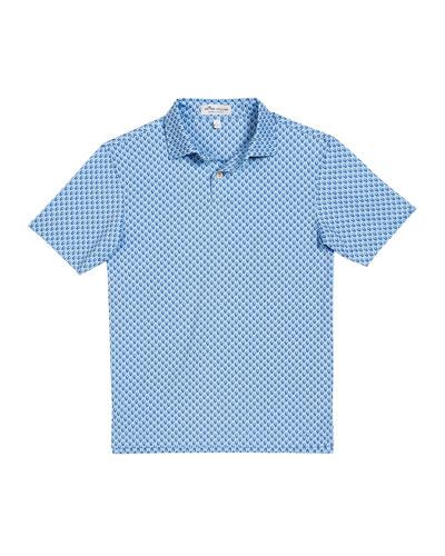 Boy's Hudson Skull Print Polo Shirt, Size XXS-XL