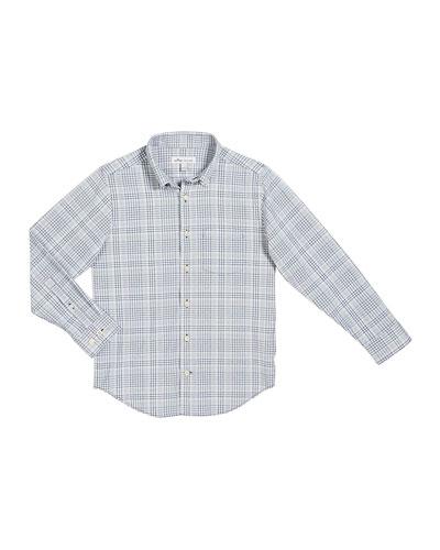 Boy's Check Performance Shirt, Size XXS-XL