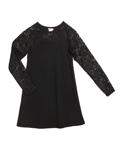The Alexis Lace Sleeves Dress, Size S-XL