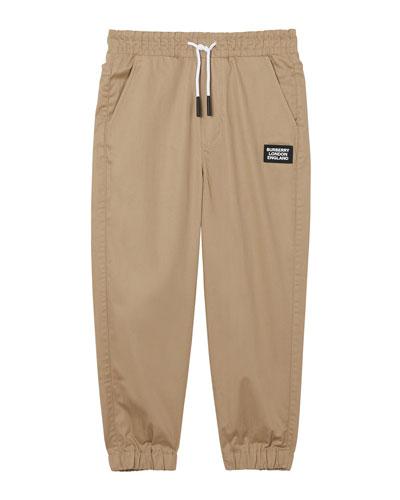 Boy's Dwayne Woven Drawstring Pants, Size 3-14