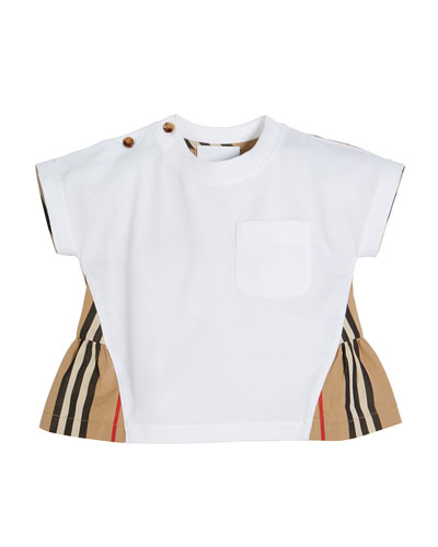 Mini Delilah Jersey Top with Icon Stripe Flyaway Back, Size 6M-2