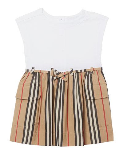 Girl's Ramona Icon Stripe Jersey Dress, Size 6M-2