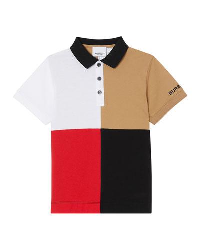 Boy's Monty Colorblock Short-Sleeve Polo Shirt, Size 3-14