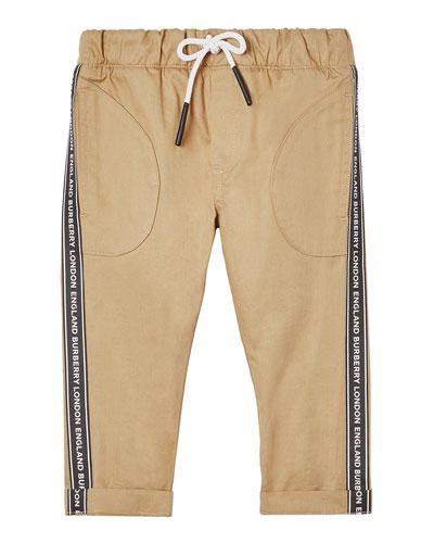 Boy's Dash Drawstring Pants w/ Logo Taping, Size 6M-2