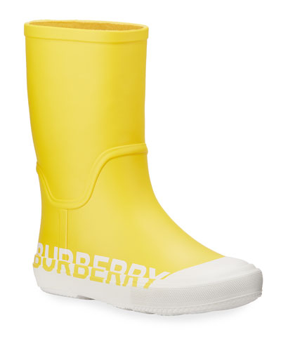 Hurston Two-Tone Logo Rubber Rain Boots, Toddler/Kids