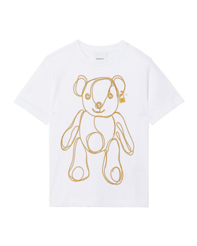 Girl's Chain Bear Short-Sleeve Tee, Size 3-14