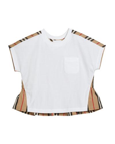 Girl's Delilah Jersey & Icon Stripe Top, Size 3-14