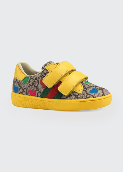 New Ace GG Supreme Hearts-Print Sneakers, Baby/Toddler