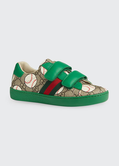 New Ace GG Supreme Baseball-Print Sneakers, Toddler/Kids