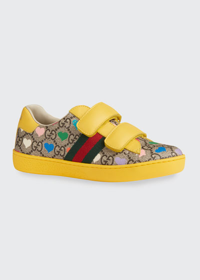 New Ace GG Supreme Hearts-Print Sneakers, Toddler/Kids