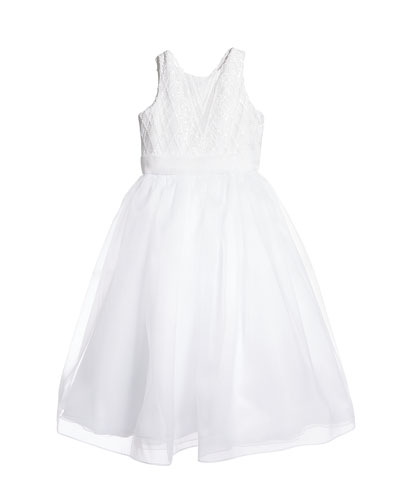 Girl's Maryann Sequin Organza Dress, Size 6-12