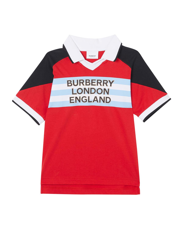 Burberry BOY'S HANKLE JOHNNY COLLAR LOGO FOOTBALL POLO