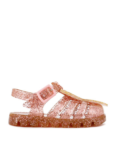 Butterfly Glitter Jelly Sandals, Baby/Toddler