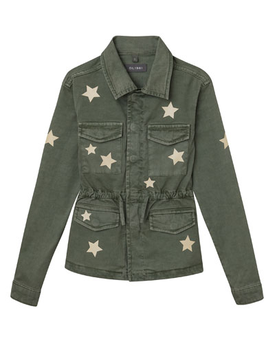 Girl's Rocco Utility Jacket with Stars, Size S-L