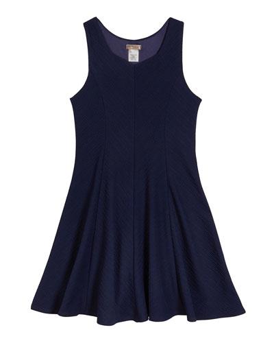 The Nikki Textured Stripe Sleeveless Dress, Size S-XL