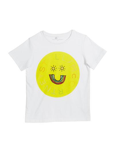 Kid's Logo Rainbow Smiley Face Graphic Tee, Size 4-14