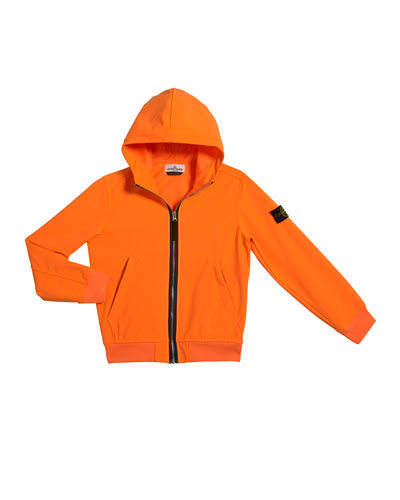 Boy's Tech Hooded Zip-Up Jacket, Size 2-4