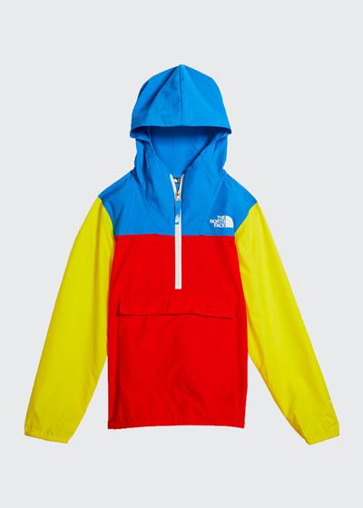 Boy's Colorblock 1/2-Zip Pullover Wind Jacket, Size XXS-XL
