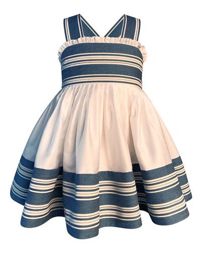 Girl's Striped Sun Dress, Size 7-10