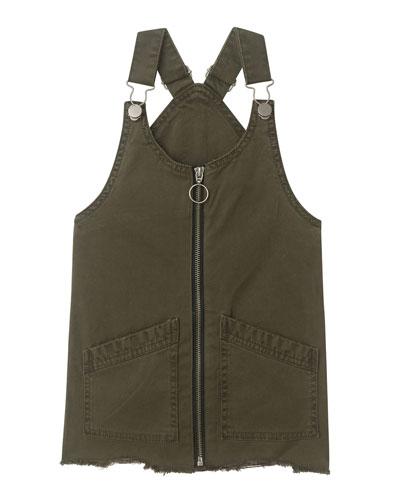 Girl's Lottie Denim Overall Dress, Size 2-6X