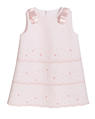 Mayoral Newborn Baby Girls 0M-12M Blue//White Pintuck Pleat Stripe Woven Dress