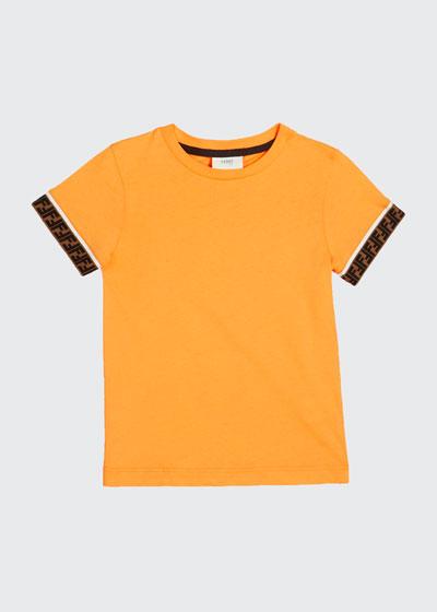 Boy's Short-Sleeve T-Shirt w/ Logo Taping, Size 4-6