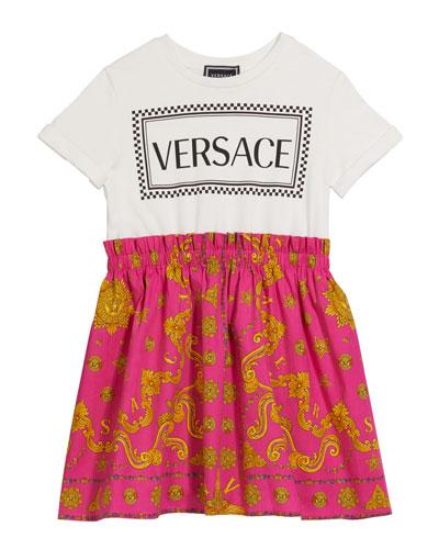 Girl's Signature Print Logo Tee Dress, Size 8-14
