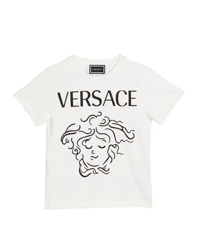 Girl's Medusa Expressions Graphic Tee, Size 4-6
