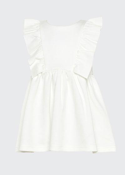 Girl's Mavis Gathered Ponte Dress, Size 7-16