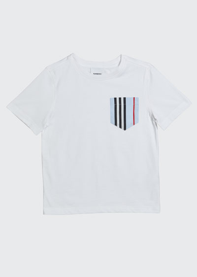 Boy's Icon Stripe Pocket Tee, Size 3-14