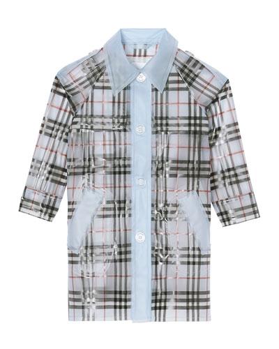 Girl's Libby Semitransparent Rain Coat, Size 3-14