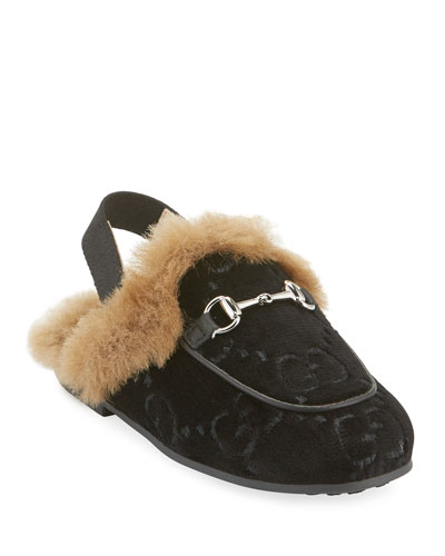 Velvet GG Mule Slides, Toddler