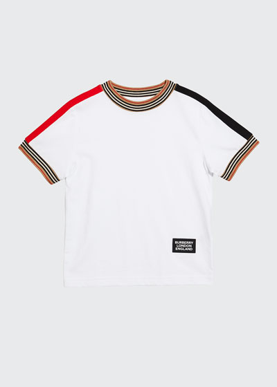 Boy's Icon Stripe Trim Tee, Size 3-14