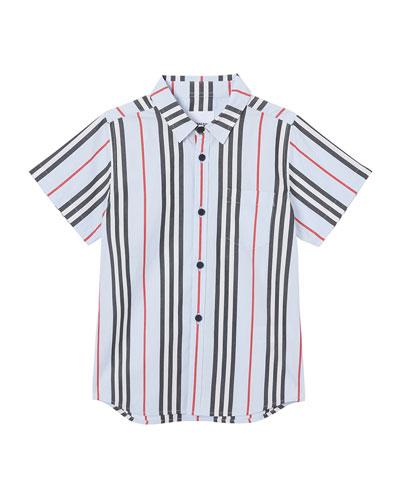 Boy's Fredrick Icon Stripe Shirt, Size 6M-2