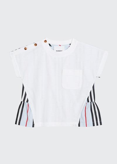Girl's Mini Delilah Icon Stripe Back Jersey Top, Size 6M-2