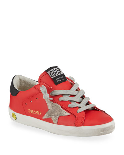 Girl's Superstar Leather Low-Top Sneakers, Kids
